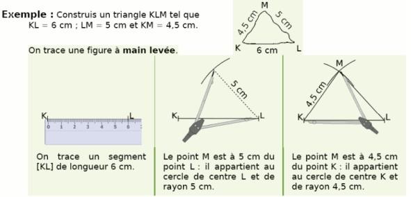 Triangle Et In U00e9galit U00e9 Triangulaire   Cours En 5 U00e8me  U00e0 T U00e9l U00e9charger En Pdf