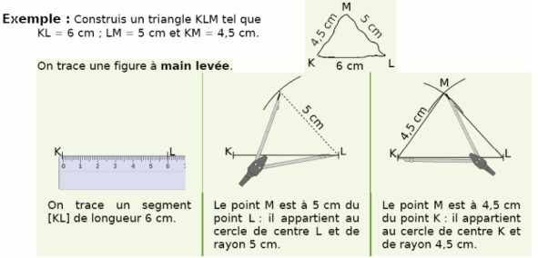 Construire un triangle
