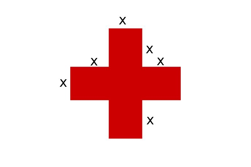comment calculer l aire d une croix