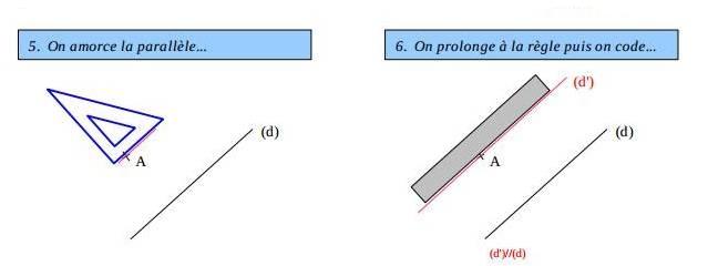 Constrution de droites parallèles