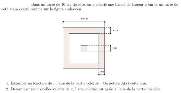 Les Equations Et Inequations Du Second Degre Exercices En Premiere S