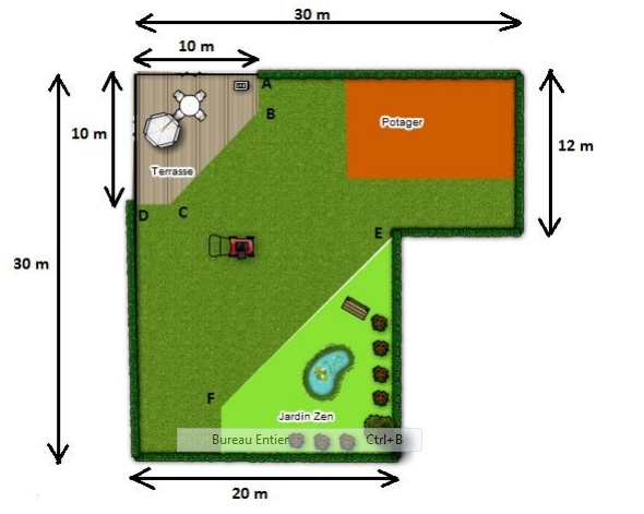 50 probl mes ouverts de maths s rie 2 for Amenagement jardin 300m2