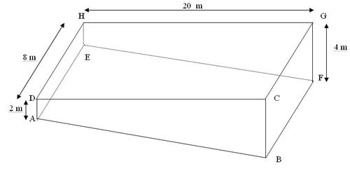 Exercices sur la g om trie dans l 39 espace s rie 2 en cinqui me for Calcul volume piscine
