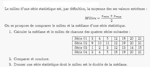 Statistiques : exercices de maths corrigés en 1ère S