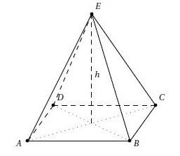 Calculer le volume d une pyramide a base carr for Calculer le volume d une maison