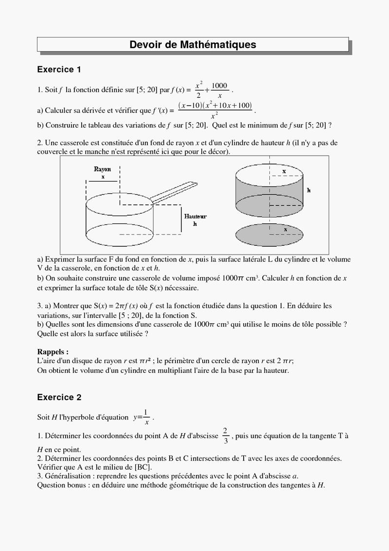 Premiere s chapitre 1 etude de fonctions 1ère Mathématiques