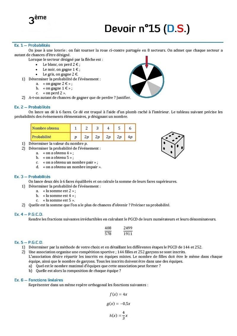 dm de math 3eme correction 2017