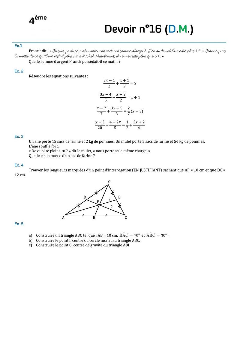 contr 244 les de math 233 matiques en quatri 232 me 4 232 me et devoirs surveill 233 s de maths en quatri 232 me