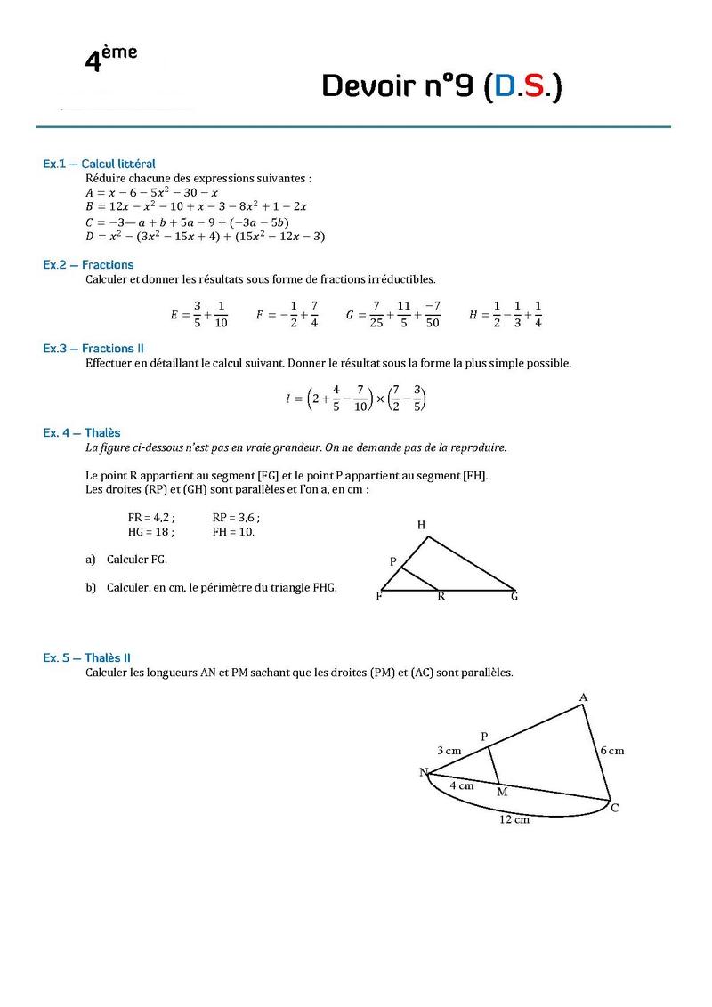 Devoir Maison De Math 5eme Geometrie Correction – Ventana Blog