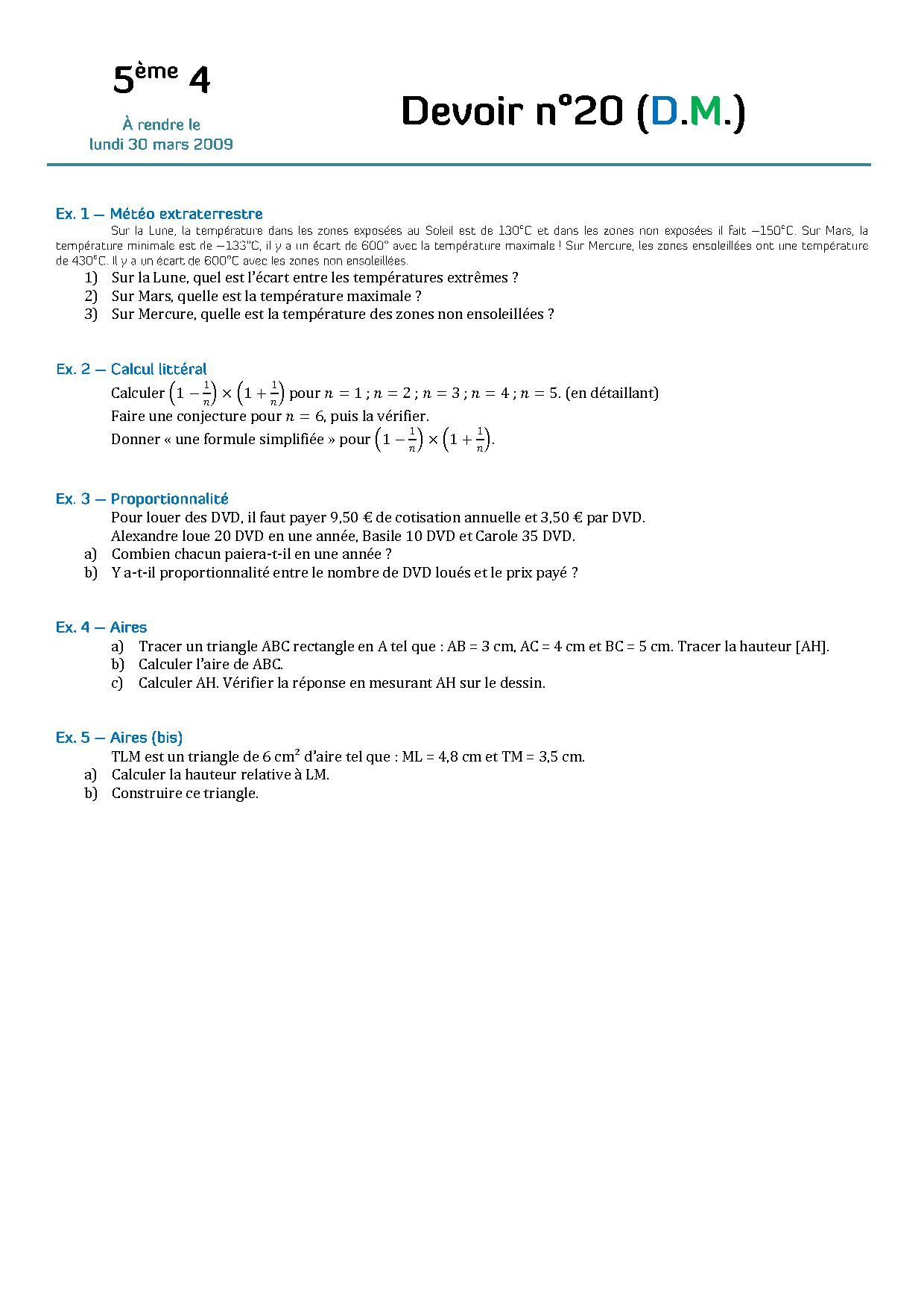conjecture maths 4eme
