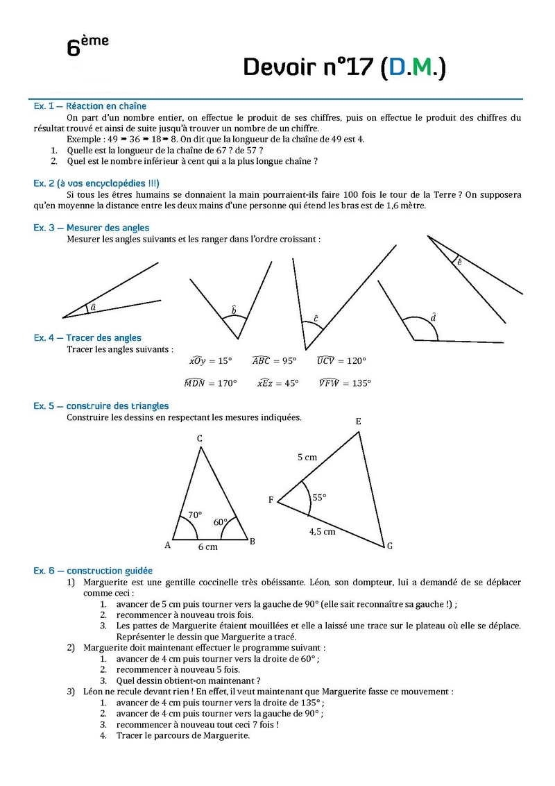 devoir de math