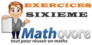 Exercices de maths en sixième (6ème).