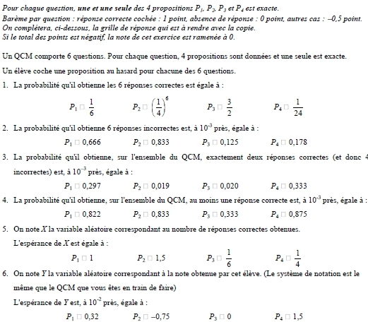 Probabilites Exercices Corriges En Terminale S En Pdf A Telecharger