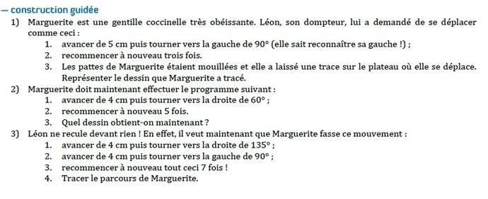 Constructions au rapporteur. : exercices en 6ème.