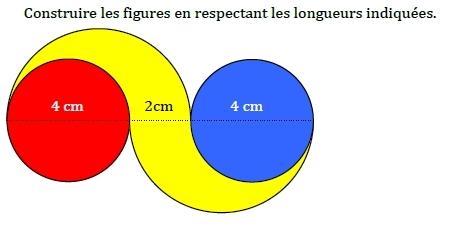 Construction de cercles. : exercices en 6ème.