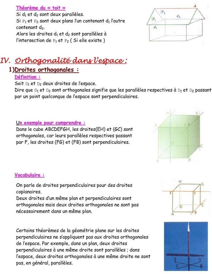 20101031u148 Géométrie dans lespace
