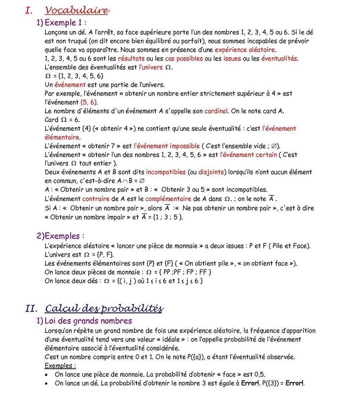 20101101probas 1 Les probabilités
