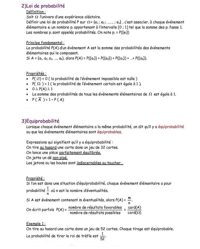 20101101probas 2 Les probabilités