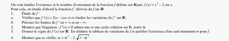 20111024fct trigonometrique page 000 Etude dune fonction trigonometrique