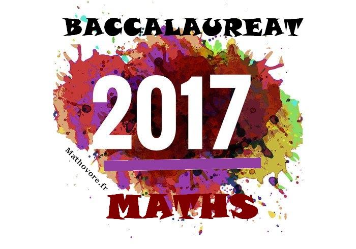Bac de maths 2017