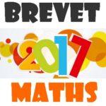 Brevet de maths 2017 : sujet blanc