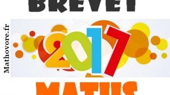 Permalien vers:Brevet de maths 2017 avec sujets et corrigés