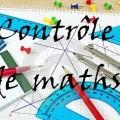 Contrôle de maths