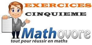 Exercices de maths en cinquième