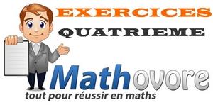 Exercices de maths en quatrième