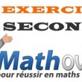 Exercices de maths en seconde