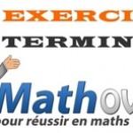 Exercices de maths en terminale