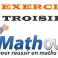 Exercices de maths en troisième