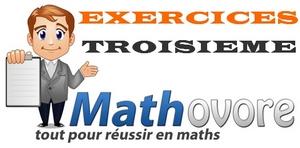 Exercices de maths en 3ème (troisième)
