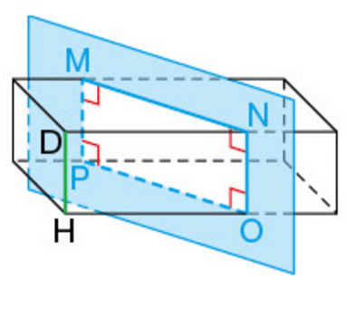 section-parallelepiAsection d'un parallélépipède rectangle par rapport à une arête