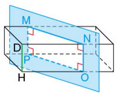 section-parallelepiAsection d'un parallélépipède rectangle par rapport à une arête