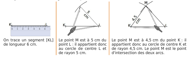 construction d'un triangle
