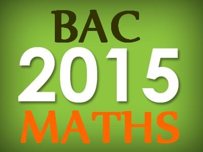 Bac S maths 2015