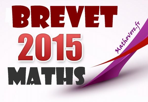brevet 2015 maths
