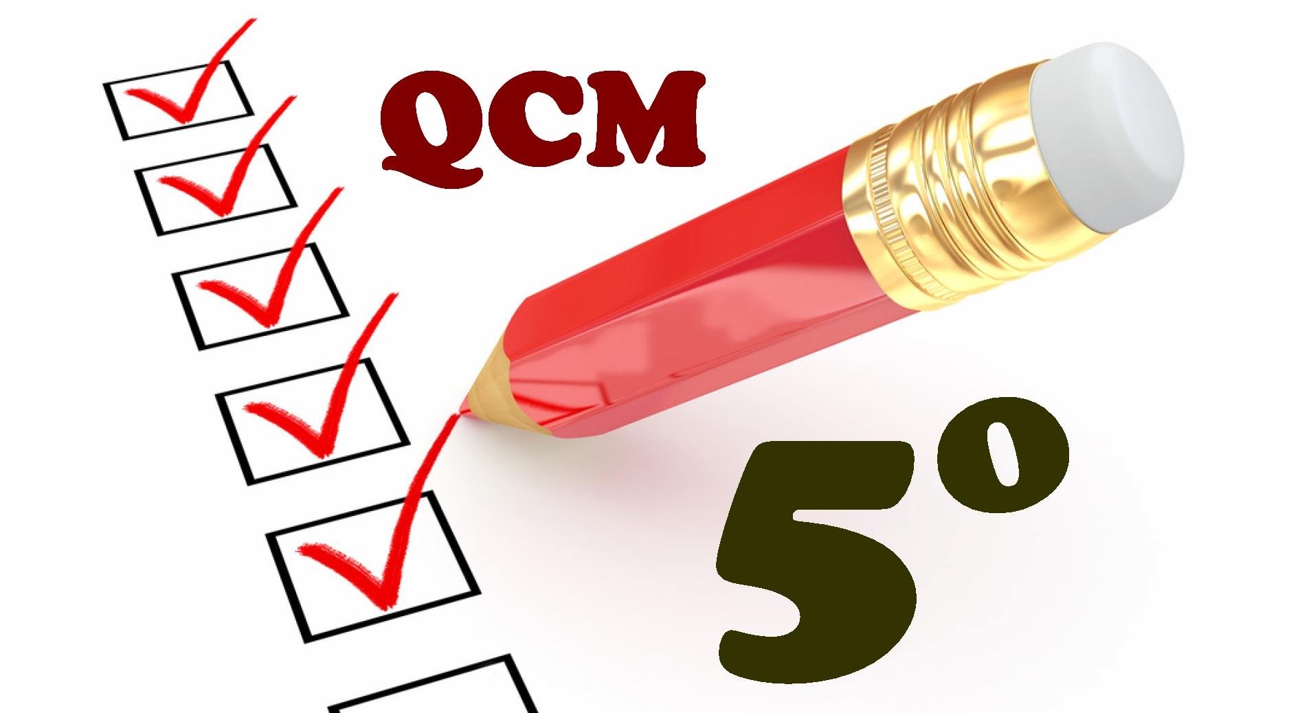 QCM en cinquième