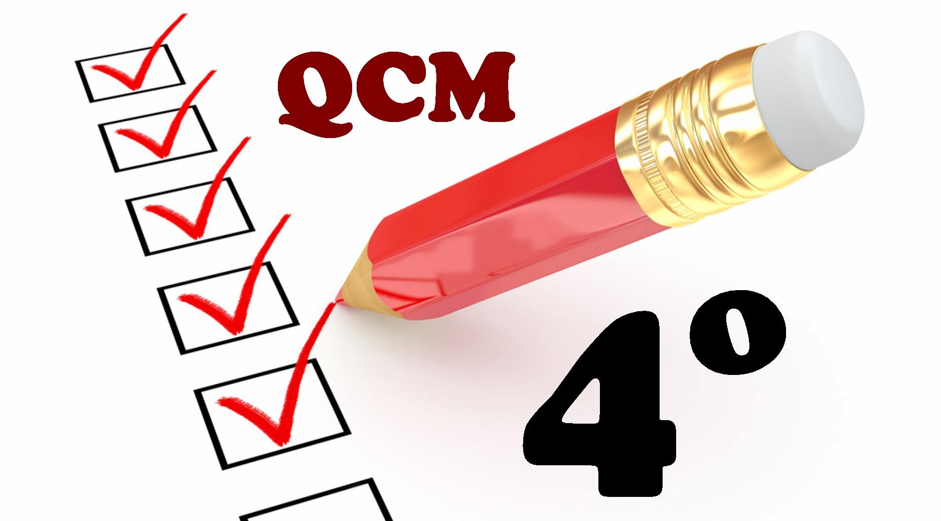 QCM en quatrième