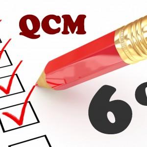 QCM en sixième