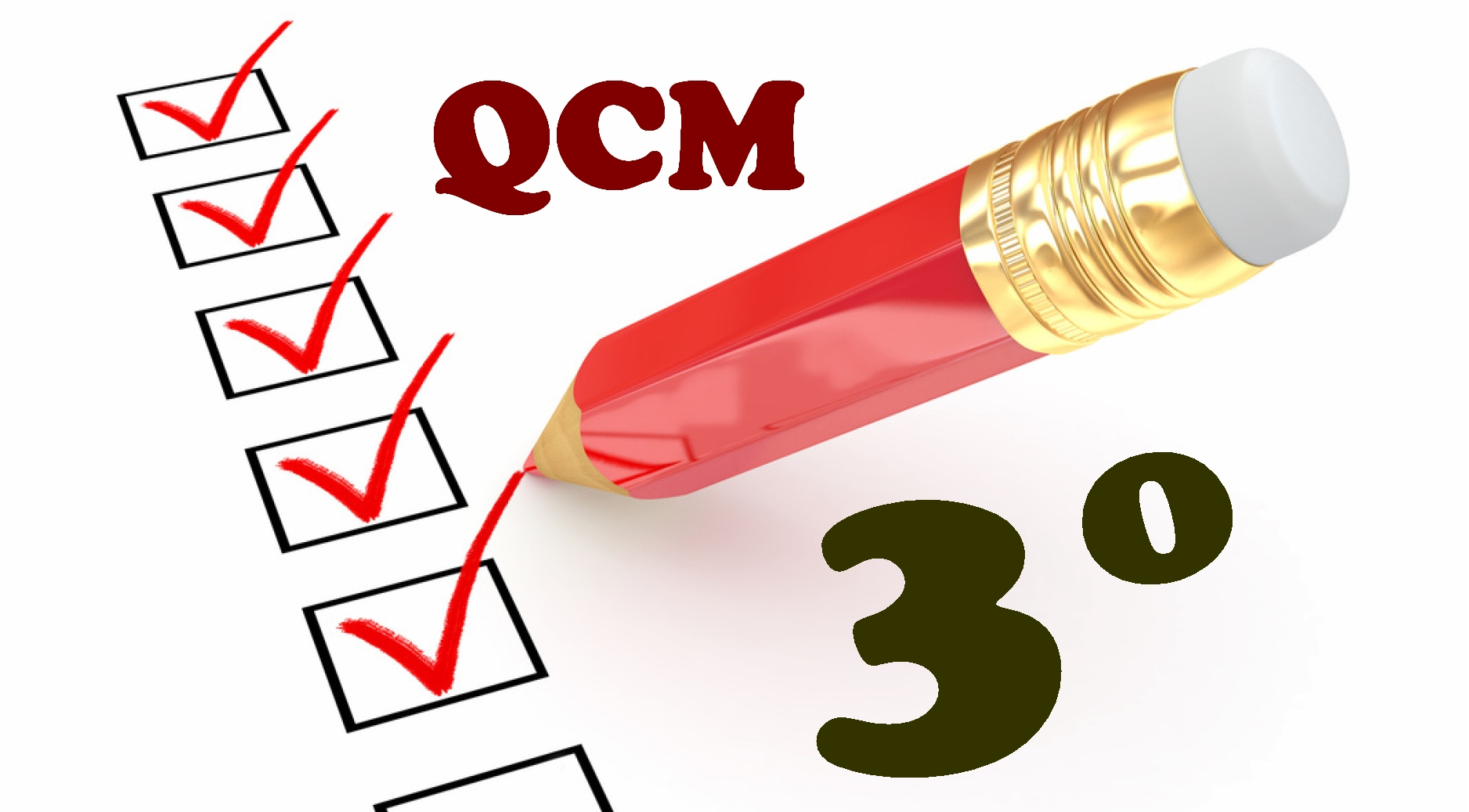 QCM en troisième