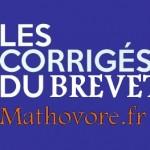 Corrigé du brevet de maths 2021 en France