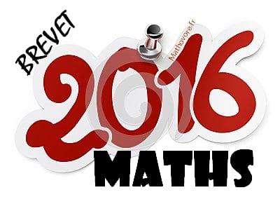 Brevet de maths 2016