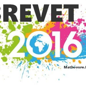Pondichéry 2016 : brevet de maths