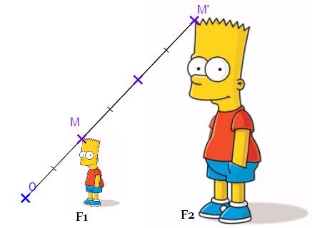 Homothétie et Bart Simpson