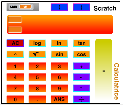 calculatrice avec scratch.