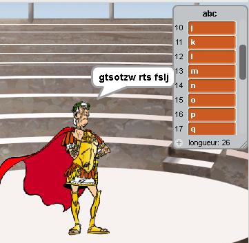 Code de César avec Scratch.