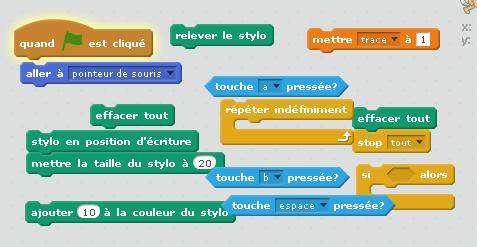 Aide à déssiner un texte dynamique avec Scratch.