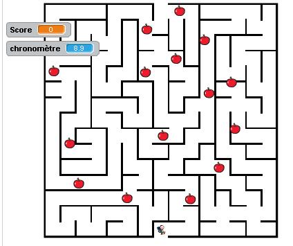 Jeu du labyrinthe avec scratch.